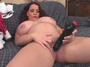 Beautiful preggo plays with dildo