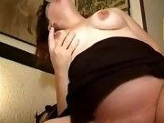 Pregnant girl gets cumshot on face